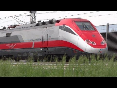 Train spotting @ Anzola Emilia: Frecciarossa, Italo, merci, Frecciabianca, Intercity