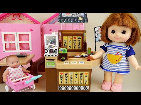 Thumbnail: Baby doll Conveyor belt food shop and Surprise eggs toys