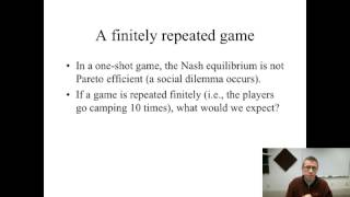 Game Theory - Repeated Games (finitely repeated)