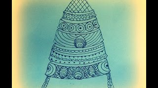 How to Draw Jewels - Kreedam / Headgear / Crown(Part 1) - Tanjore Painting For Beginners