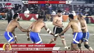 FINAL- BHAGWANPUR VS NRI NAKODAR- Mothada Kalan (Jalandhar) Kabaddi Cup 2019 | LIVE KABADDI