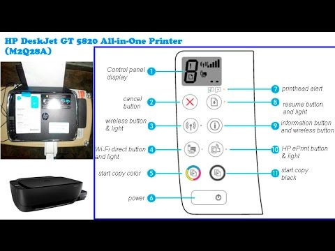 Hp Deskjet Gt 5820 All In One Printer M2q28a 😍😘😚 Youtube