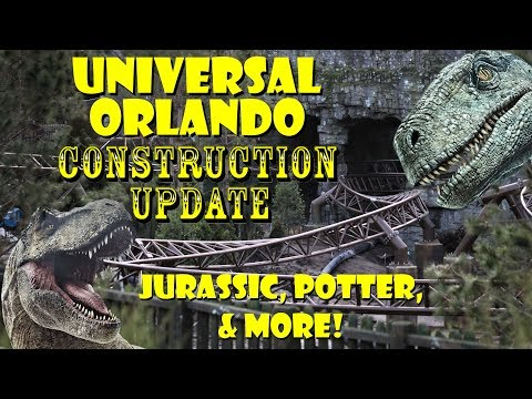 Universal Orlando Resort Construction Update 2.10.19 Jurassic Destruction, Potter, & Mardi Gras!