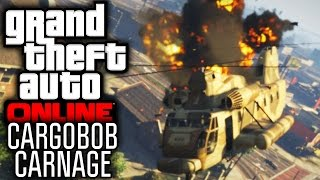 GTA 5 Online Funny Moments | Cargobob Car Theft & Trolling (w/ The Nobeds)