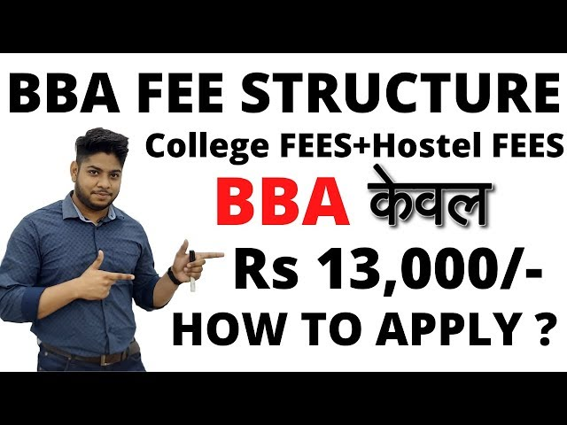 BBA fees structure with Hostel pg complete details IP University Delhi University