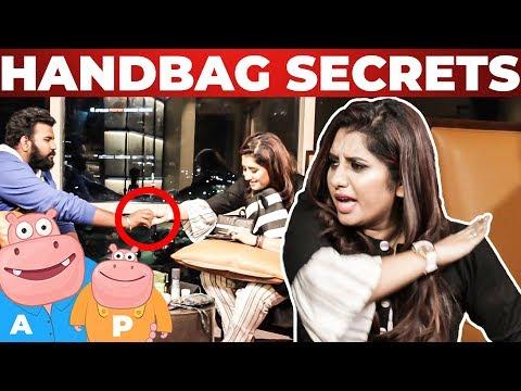 VJ Priyanka Handbag Secrets Revealed   Vj Ashiq   What's Inside the HANDBAG