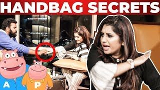 VJ Priyanka Handbag Secrets Revealed | Vj Ashiq | What's Inside the HANDBAG