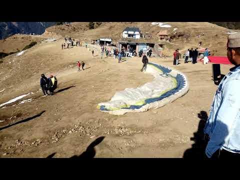 Paragliding  Crash In Bir Billing /vk Filmshp/