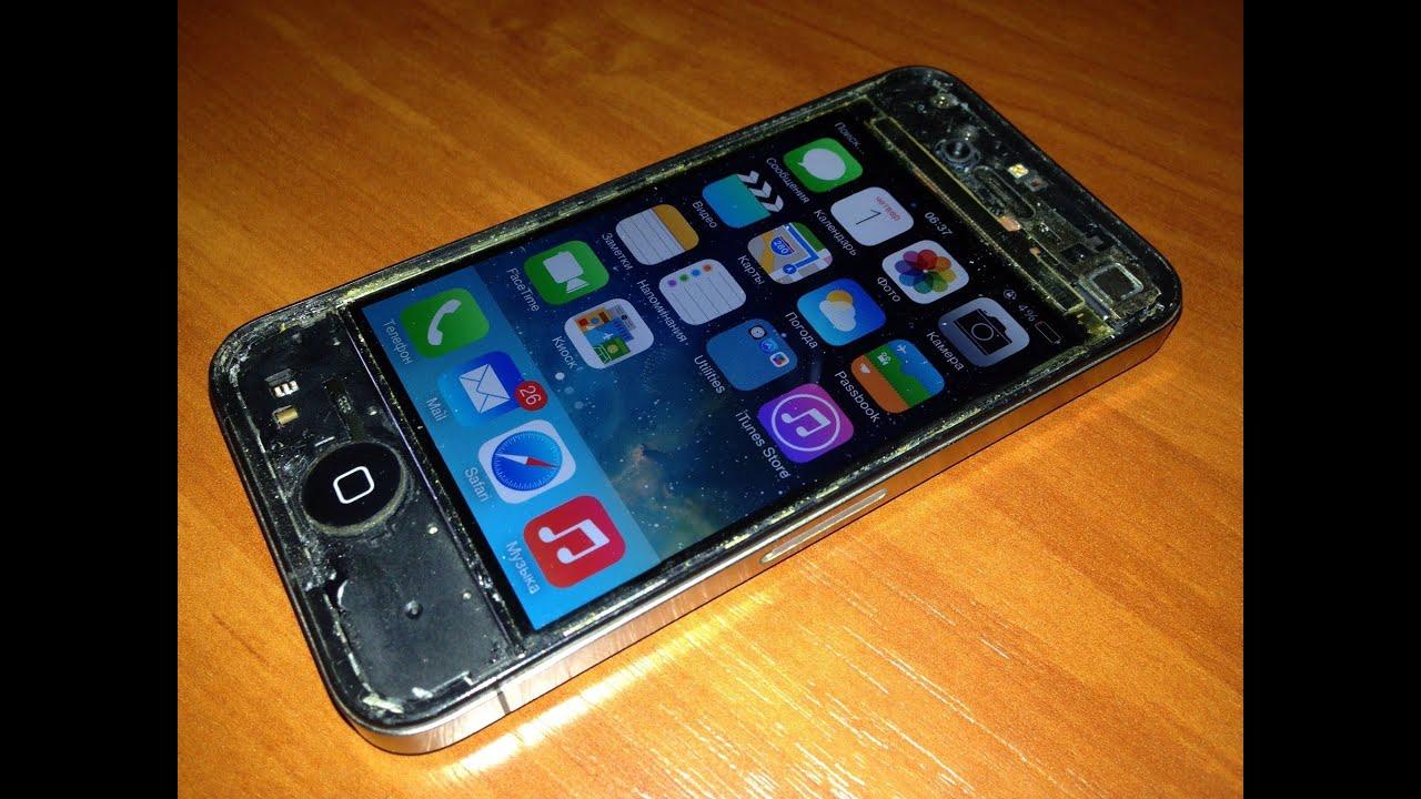 Замена стекла на IPhone 5 при помощи клея Octopus Glue - YouTube