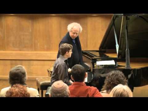 Masterclass with András Schiff (Yehuda Inbar, piano)