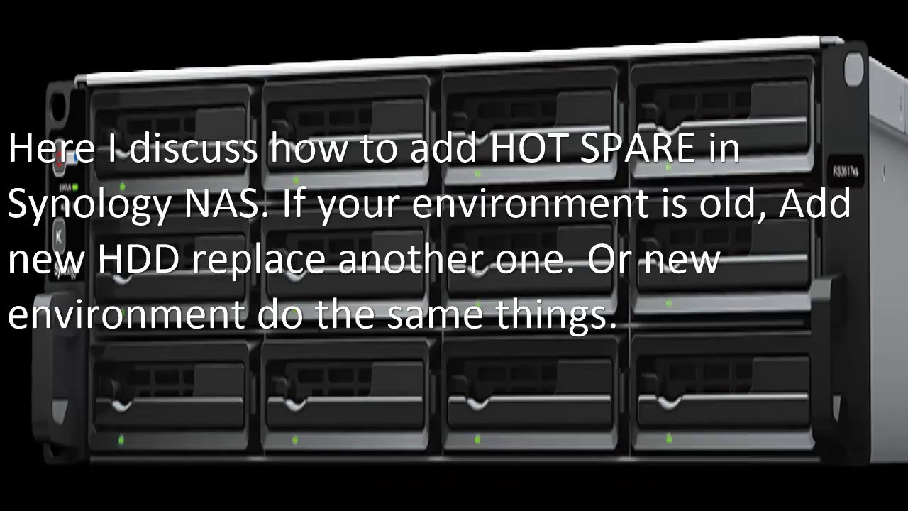 Create HOT Spare Synology NAS