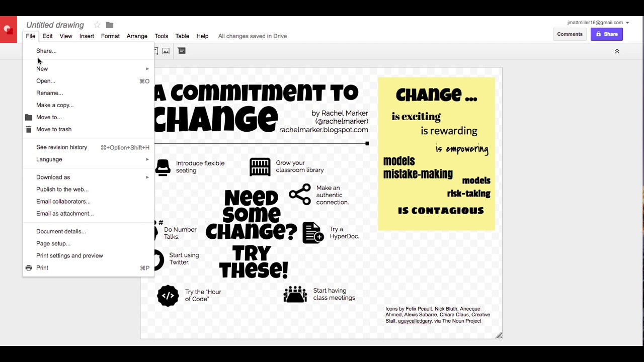 How to create an infographic on google docs