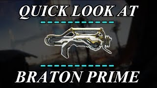 Warframe - Quick Look At: Braton Prime (3 Forma)