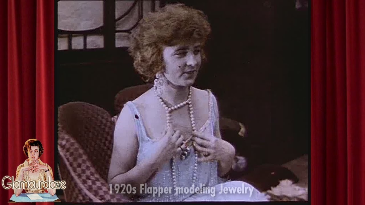 19bfa20faeab 1920's Flapper Dress and Jewelry - 1927 Film - YouTube