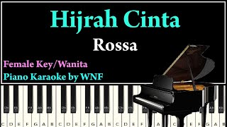 Rossa - Hijrah Cinta Piano Karaoke | Synthesia Piano