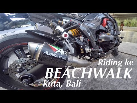 #29 Ke Beachwalk Kuta Bali with ZX10R | indo250up