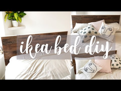 DIY Ikea Headboard | £20 Reclaimed Wood Effect