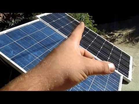 Последний тест солнечных батарей на 100 ватт! Моно против Поле