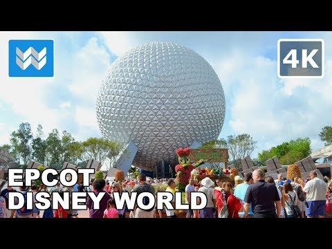Walking tour inside EPCOT in Disney World - Orlando, Florida 【4K】