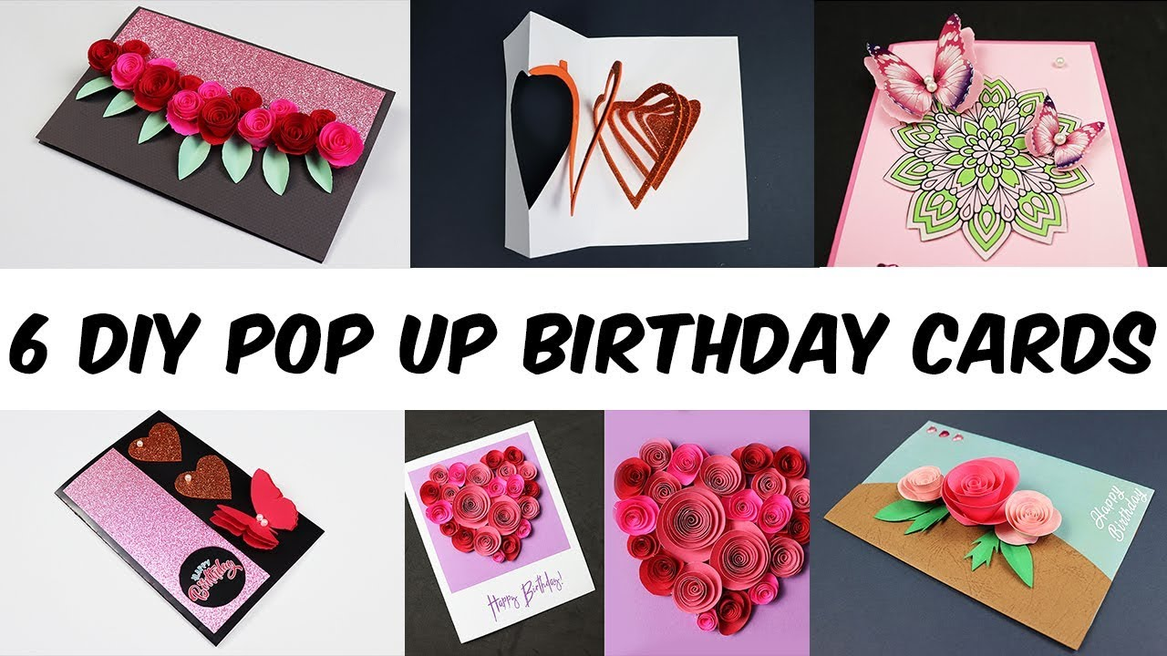 6 Diy Pop Up Birthday Cards