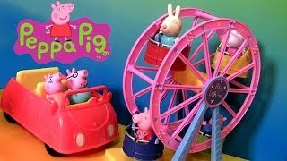 Peppa Pig Big Ferris Wheel Theme Park - Rueda dela Fortuna Parque de Diversiones Nickelodeon
