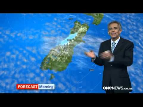 ONE News NZ - Daniel Corbett hosts Weather