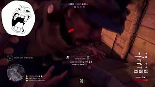Battlefield noob gets 3 melee kills in 30 sec TOTAL FLUKE derpy death