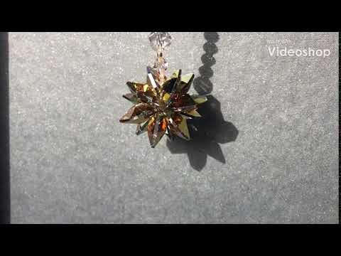 Small handmade gold Swarovski crystal for your car