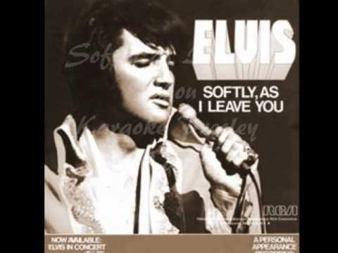 Softly As I Leave You - Karaoke  Presley (COVER)