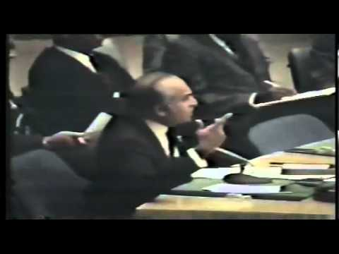 Bhutto fights for Pakistan in UN security council 15 Decemper 1971