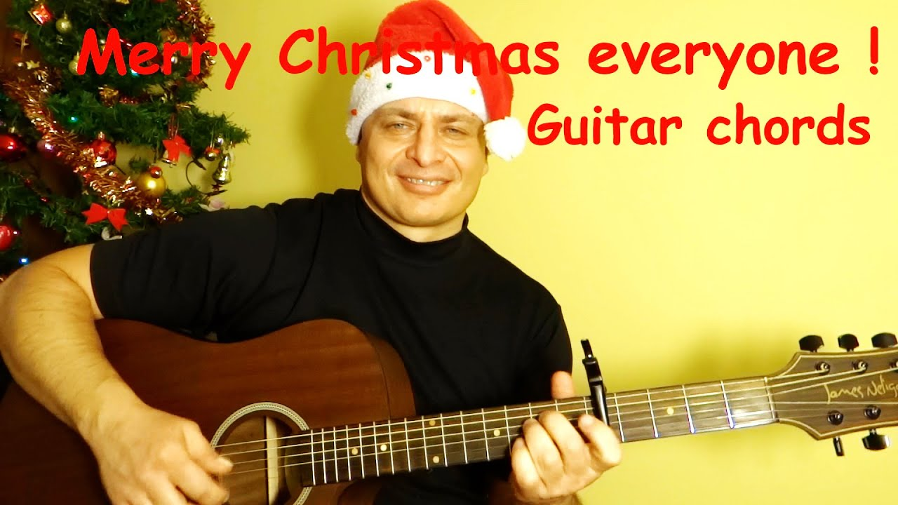 Merry Christmas Everyoneakin Stevens Guitar Chords Acoustic