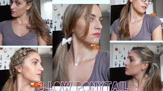 low ponytail tutorial Thumbnail
