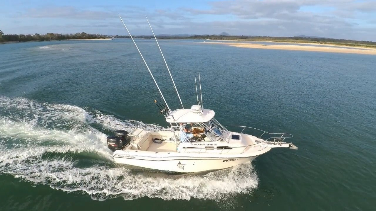 Autel XSP Tracking a Grady White 258 Journey on the Noosa River + Bar New  Years Morn