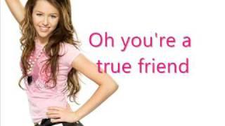 Miley Cyrus / Hannah Montana - true friends - Karaoke