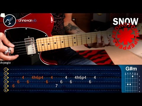 Como tocar Snow (hey oh) Red Hot Chili Peppers en Guitarra | Tutorial COMPLETO