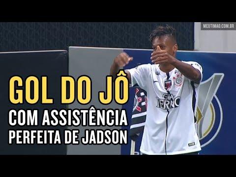 Corinthians 3x1 Coritiba - Gol de Jô e belo passe do Jadson - 11/10/2017