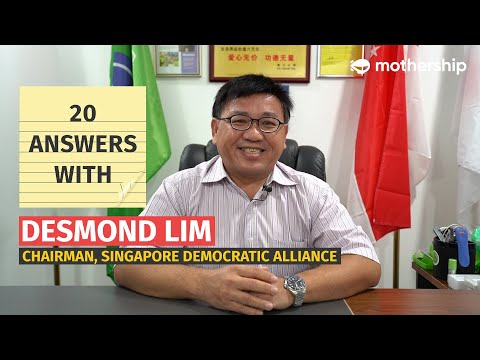 SDA's Desmond Lim on that 2013 viral video, Chiam See Tong, and future GE plans | 20 Answers With... from YouTube · Duration:  11 minutes 5 seconds