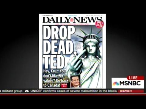 """DROP DEAD TED!"" NEW YORK DAILY NEWS TO TED CRUZ"
