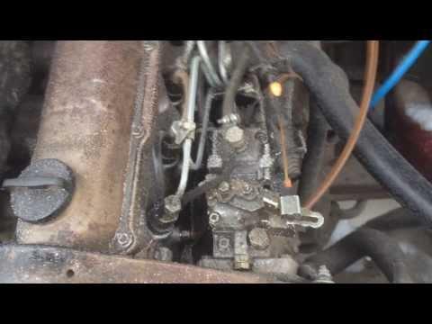 Audi 80 b2 1.6d 40kw запуск дизеля (cold start -14)