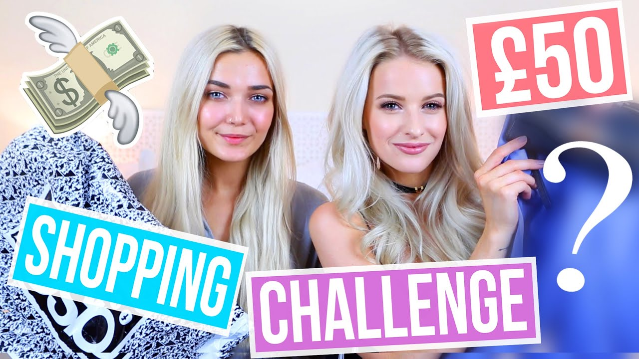 £50 OUTFIT CHALLENGE WITH INTHEFROW - YouTube