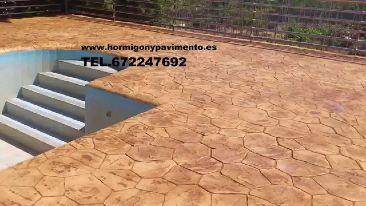 Hormigon impreso fuentepelayo 672247692 segovia youtube for Hormigon impreso youtube
