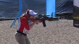Выступление женской сборной России на Чемпионате мира по практической стрельбе из карабина