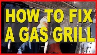 GRILL REPAIR - Replacing Burners & Carryover Tubes Char-Broil Gas Grill [HD]