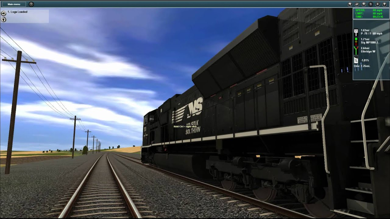 Trainz 12 Norfolk Southern Loco Hauling Logs Marias Pass X Route by  stacy20102010