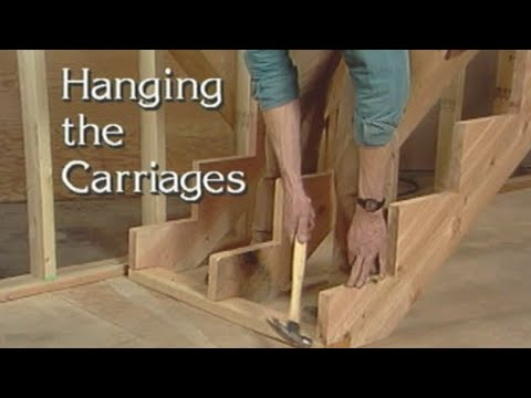 Hanging Stringers For Stairs How To Build Stairs Youtube