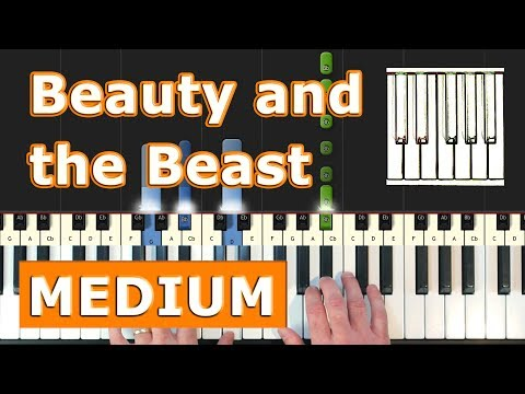 Beauty and the Beast - Piano Tutorial Easy - Disney - Sheet Music (Synthesia)
