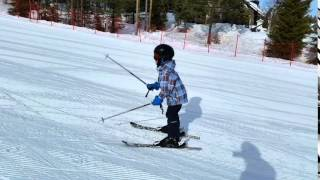 Горные лыжи, обучение детей. Ваня, 5 лет. Скифактор.