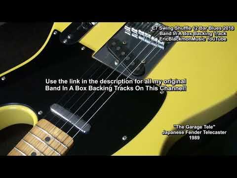 E7 Swing Shuffle 12 Bar Blues Backing Track/Lesson - Band In A Box 2018 EricBlackmonGuitar