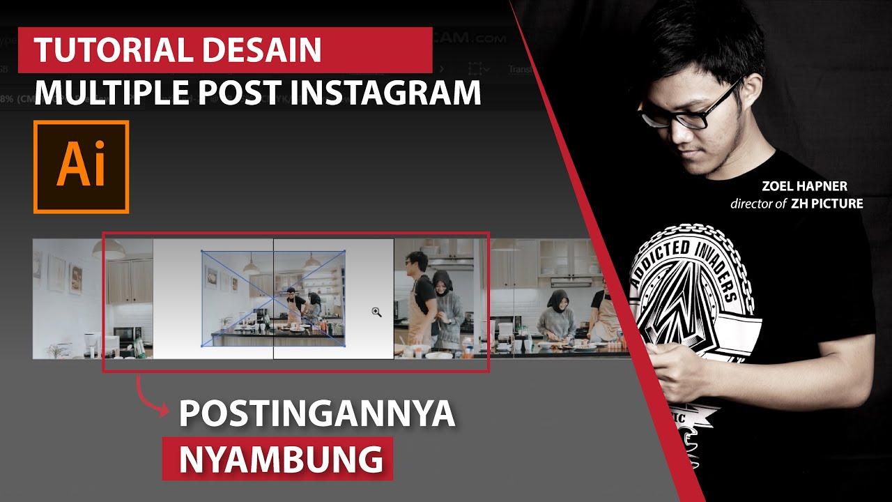 Tutorial Desain Multiple Post Instagram, Postinganmu jadi Lebih Keren! (adobe Illustrator)