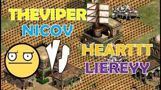 MAGIA DEL AOE! NICOV EN EL EQUIPO DE THEVIPER vs HEARTT y LIEREY !
